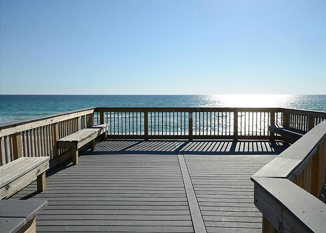 Beach Deck on the Property