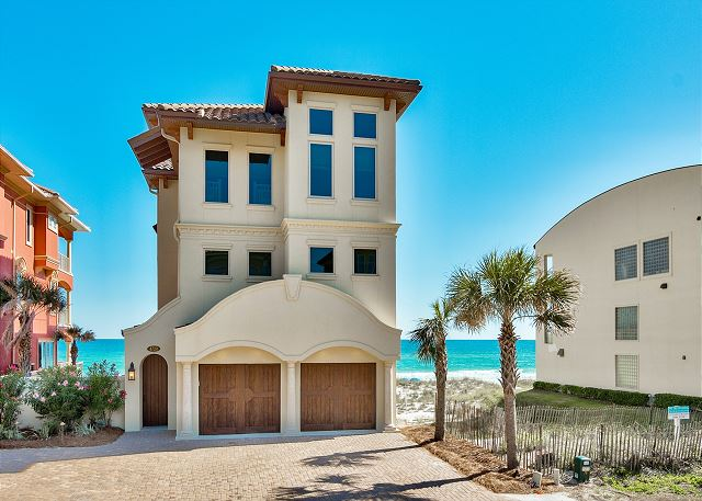 Exterior Gulf Front Home!