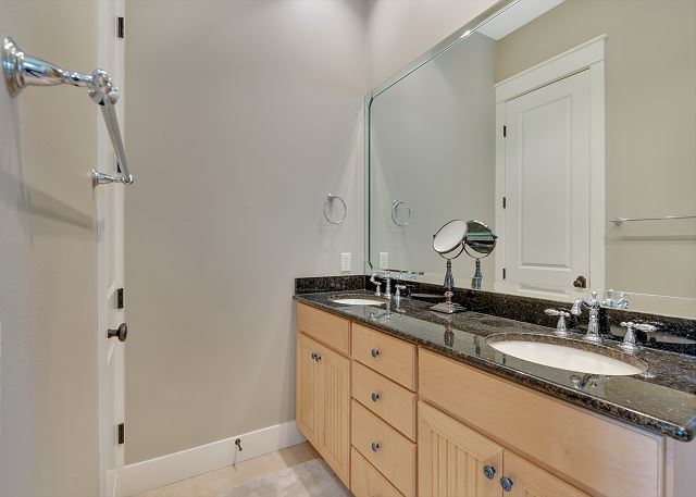 Double Vanity With Walk-In Shower