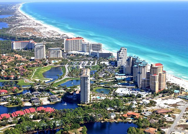 Aerial View of Beachside at Sandestin