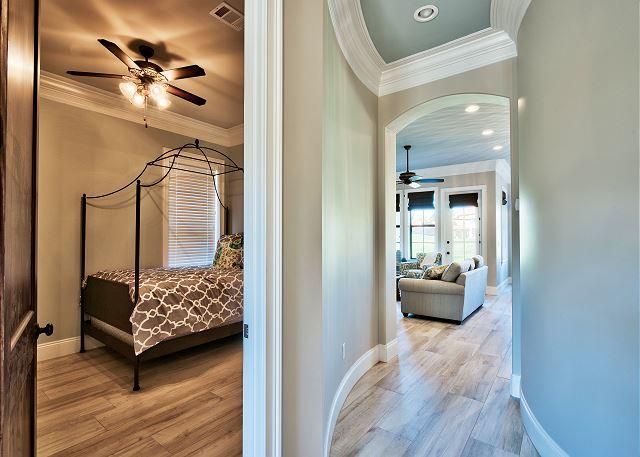 Hallway View in into bedroom