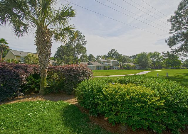 Golf Cart Path With Landscaping