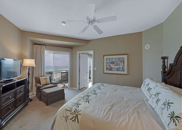 Spacious Master bedroom with flat panel TV