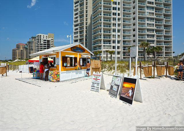 Beach  Service Hut behind the condo
