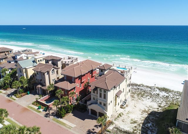 Ariel Photo of the Gorgeous Beach Front Home!