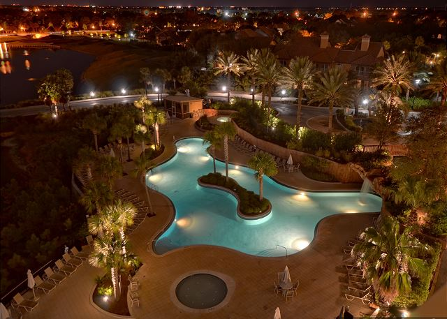 Luau Pool at Night