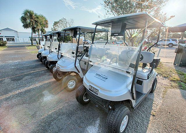 Golf Cart Parking Area