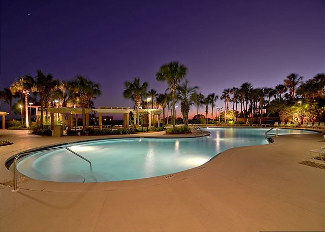 Westwinds Pool at Night