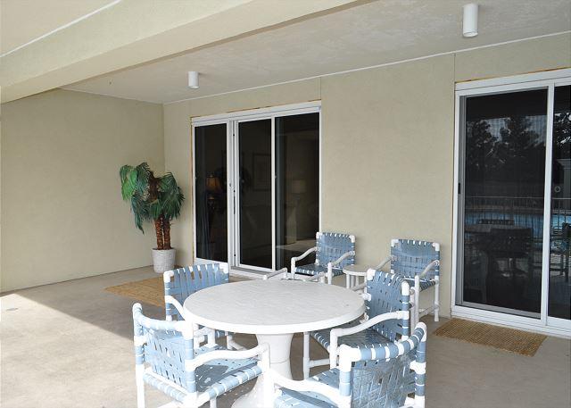 Dining area on patio