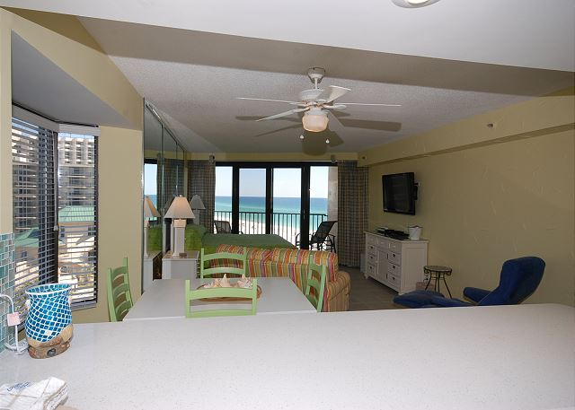 View to the beach from the kitchen