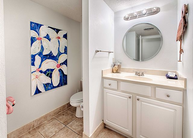 Spacious and Well Lighted Bathroom