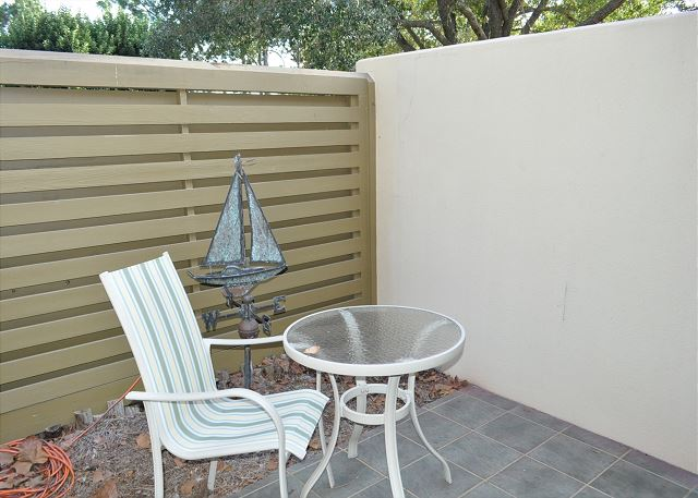 Private courtyard off guest bedroom