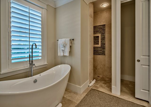 Ground Floor Master Bath Tub and Shower!