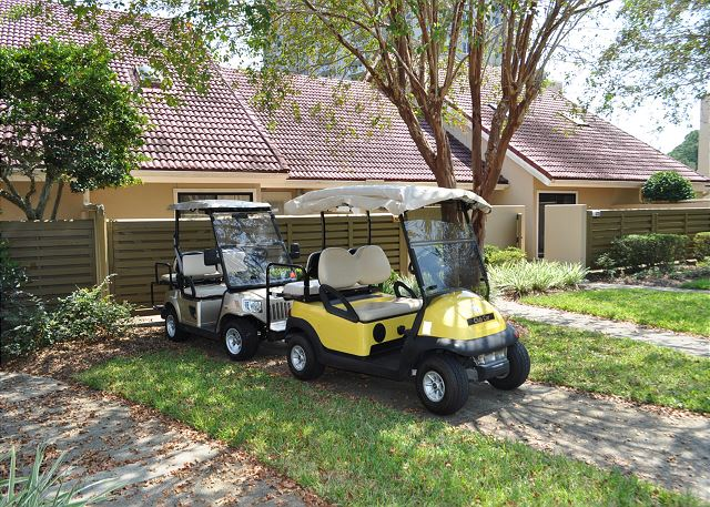 Two golf carts for guest use!
