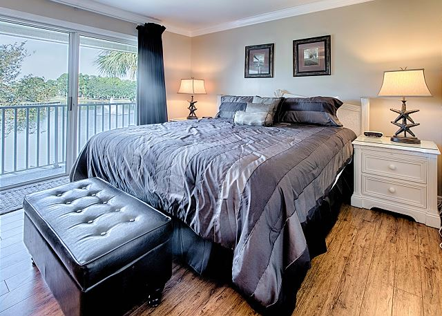 Master Bedroom With King Bed and Private Balcony