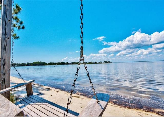 Swing at Choctawhatchee Bay