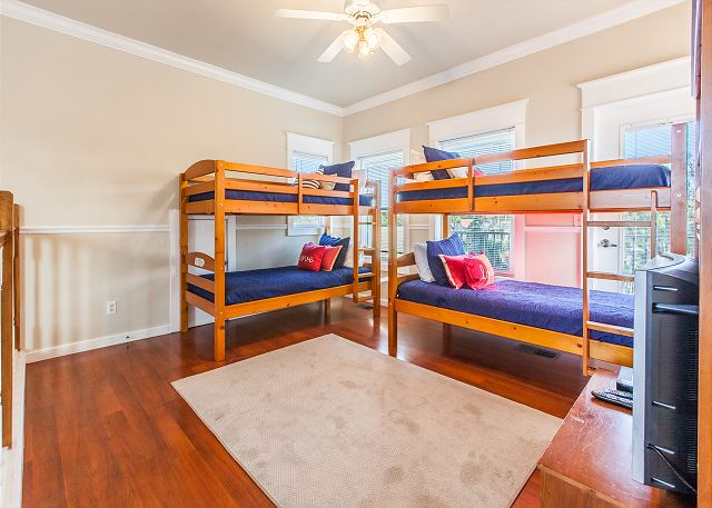 2 sets of Bunks with TV included