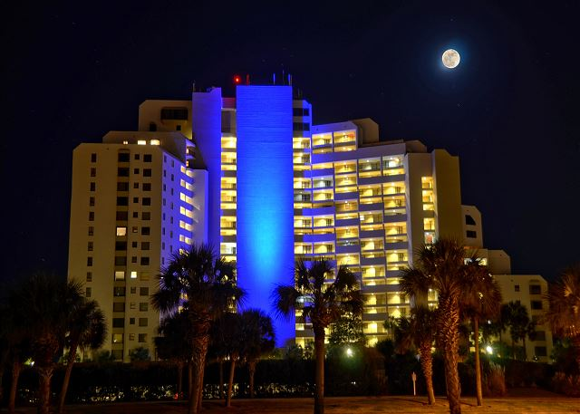Night time building view