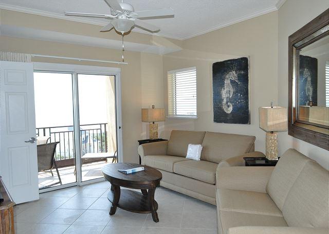 Living room with brand new sleeper sofa & loveseat September 201