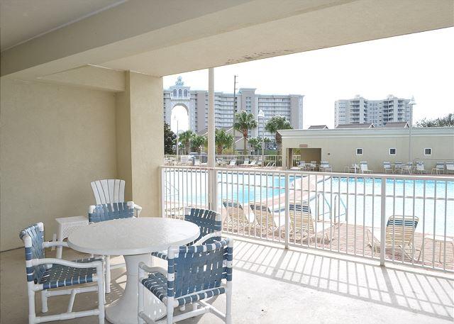 Wonderful pool views from patio