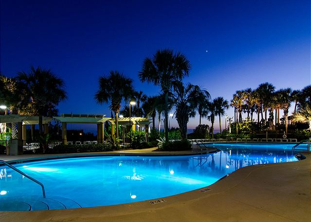 Westwinds Community Pool at Night