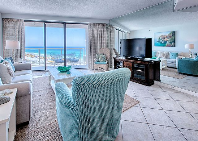 Living room and ocean view