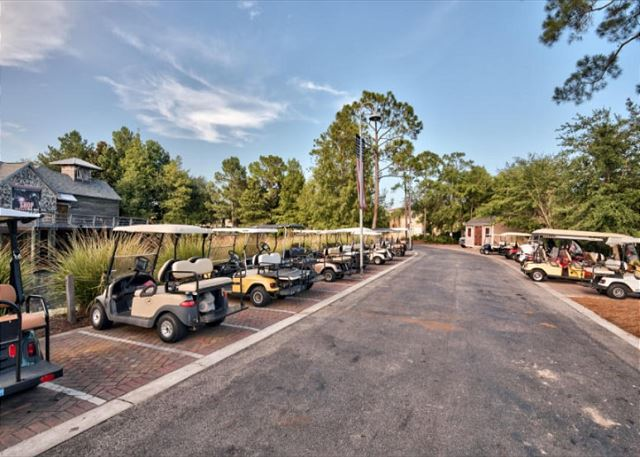 Golf Cart Parking at Village of Baytown Wharf