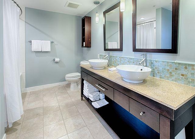 Updated Bathroom with Double Vanity