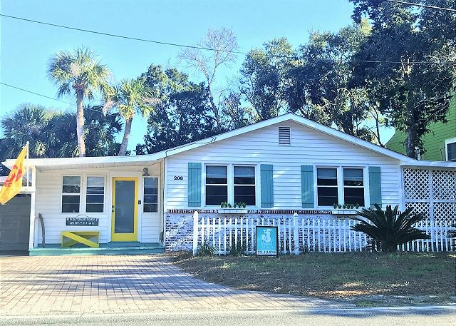 Beach Bubble Bungalow was built in 1950 and expanded in the recent years! What a classic Tybee charmer with vintage, modern and vintage-modern touches!