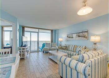 Bay Watch Resort N 705-Oceanfront-Crescent Beach, a 3 bedroom, 2.0 bathroom vacation rental located in North Myrtle Beach, SC