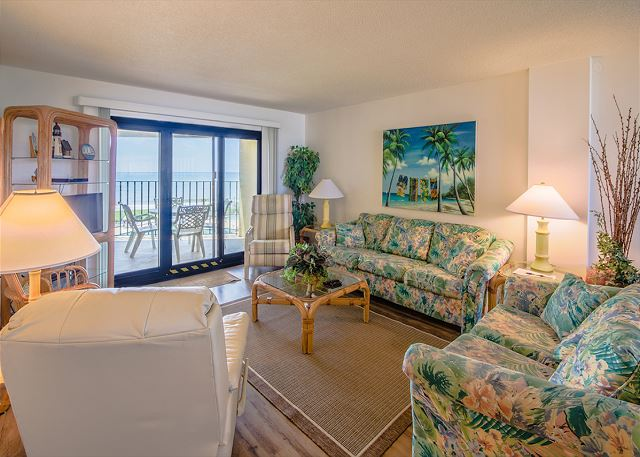 Summer Winds 414 | Back corner unit with great views of the pool and ocean!! Lots of  amenities!
