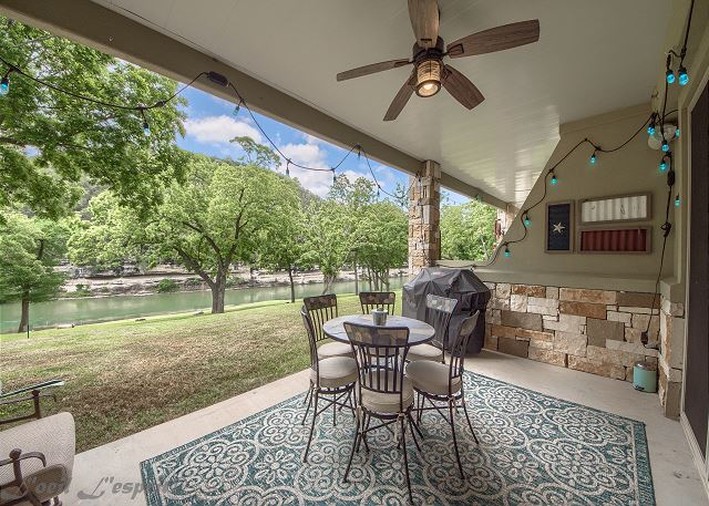 This first floor condo has a great patio