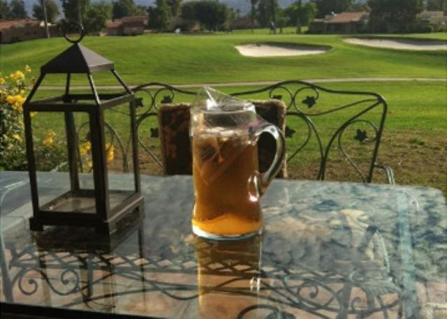 After a few rounds of golf sit back & relax with a nice cup of sweet tea