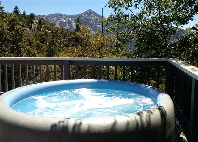 Enjoy a nice deep in the spa with views all around.