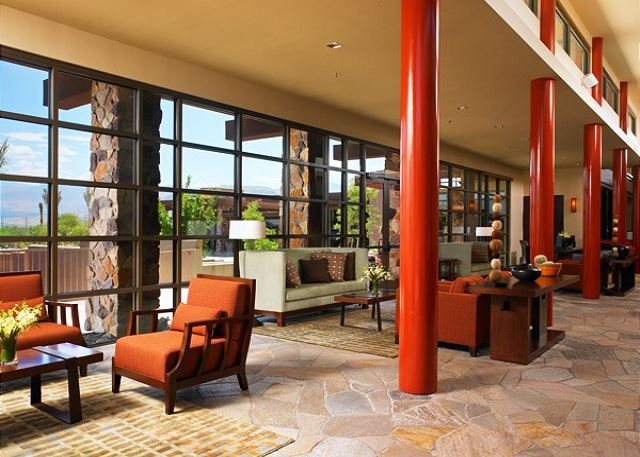 Guest Lobby: Speak with concierge to schedule tours or tee times