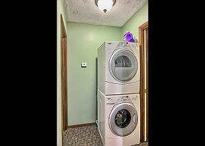 Private Washer and Dryer in the Condo Makes it a Great Place for Families.