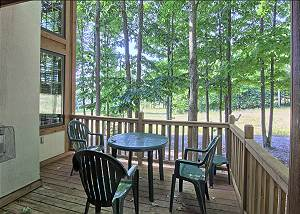 Gorgeous Deck with Table and Amazing Slopeside Views.