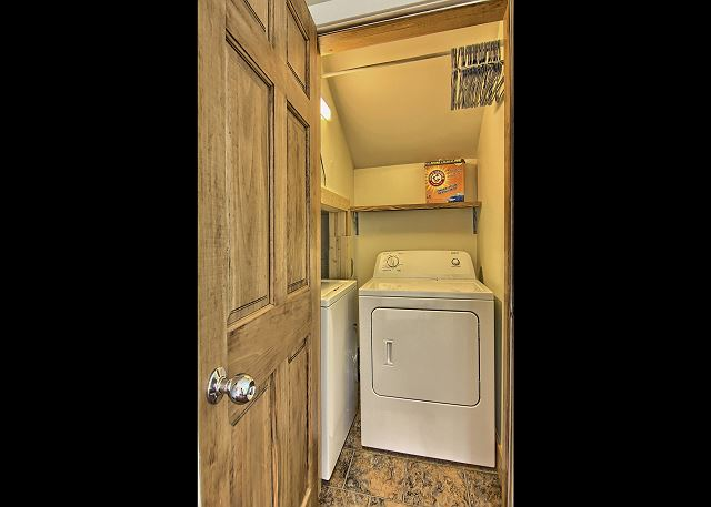 The private Washer and Dryer is an Exclusive Feature of this 3BR Disciples Village Condo.