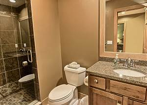 view of full second bathroom on the main floor