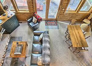 View of the Living Room and Dining Area from Loft.