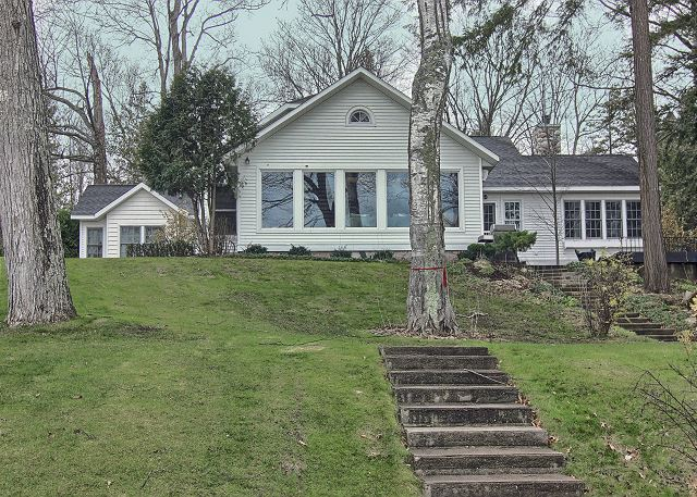 back of the house/lake house