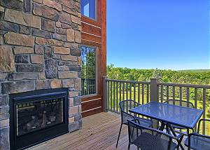 Private Deck with Amazing Views and Double Sided Fireplace