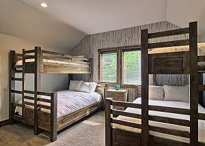 Fourth Bedroom with Captains Bunks and En Suite Full Bath located on Second Floor