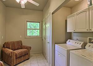 Laundry room and entry from back deck