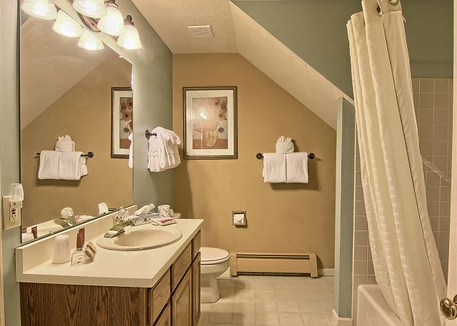 This bathroom is located next to the first bedroom