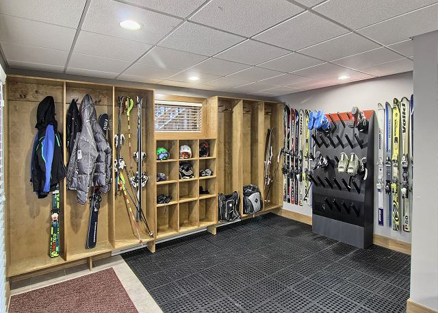ski room complete with boot dryer