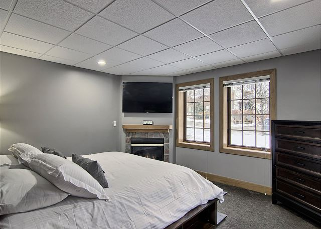 Lower Level - Second Master Bedroom with Gas Fireplace