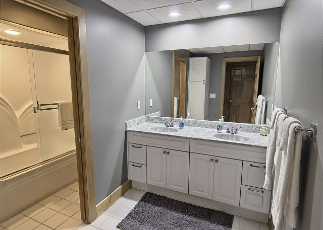 Shared Full Bathroom - Lower Level