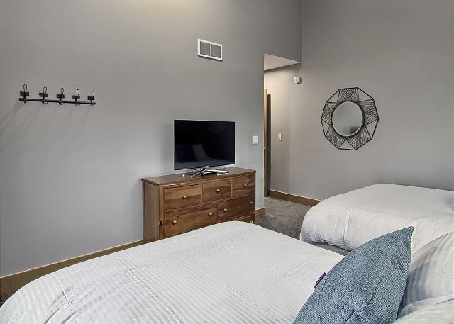 Main Floor Bedroom with Flat Screen TV