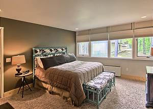 View of master bedroom with a king size bed